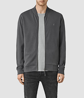 Herren Saturn Bomber Sweatshirt (Washed Black)