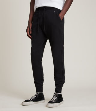 Hombres Raven Sweat Pant (Black) - product_image_alt_text_2