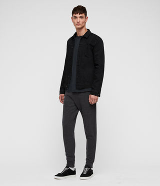 Hombres Raven Sweat Pant (Charcoal Marl) - product_image_alt_text_3