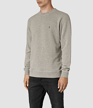 Men's Wolfe Crew Sweatshirt (Smoke Marl) - product_image_alt_text_2