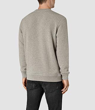 Hommes Wolfe Crew Sweatshirt (Smoke Marl) - product_image_alt_text_3
