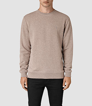 Hommes Wolfe Crew Sweatshirt (Taupe Marl) -