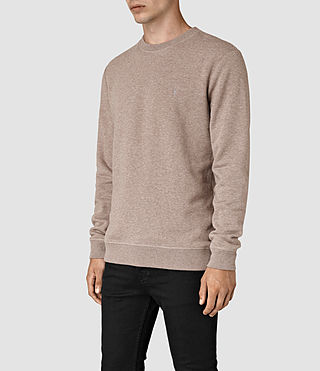 Hommes Wolfe Crew Sweatshirt (Taupe Marl) - product_image_alt_text_2