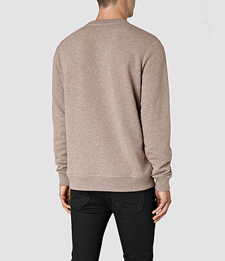 Hommes Wolfe Crew Sweatshirt (Taupe Marl) - product_image_alt_text_3