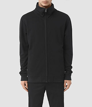 Hombres Lendall Funnel Neck Sweatshirt (Jet Black)
