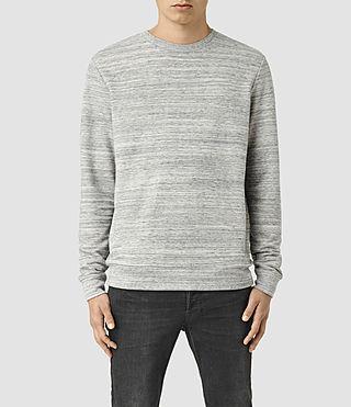 Hombre Trema Crew Sweatshirt (Ecru Mou/Vntg Wht) - product_image_alt_text_1
