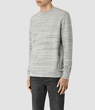 Hommes Trema Crew Sweatshirt (Ecru Mou/Vntg Wht) - product_image_alt_text_2