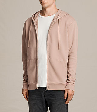 Mens Exole Zip Hoody (Dusk Pink) - product_image_alt_text_3