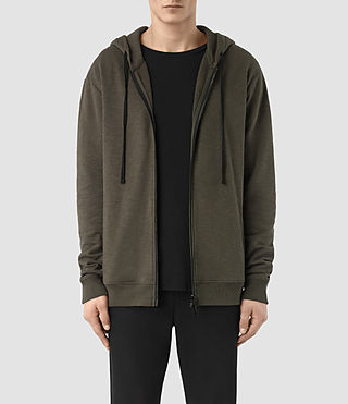 Mens Aryan Hoody (OLIVE GRN/JET BLK) - product_image_alt_text_1