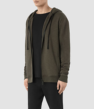 Mens Aryan Hoody (OLIVE GRN/JET BLK) - product_image_alt_text_2