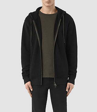 Hommes Aryan Hoody (BLACK/KHAKI BROWN)