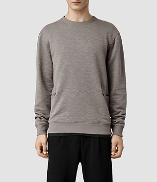 Mens Griffin Crew Sweat (Pewter)