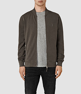 Men's Orian Bomber Sweatshirt (Khaki Brown) -