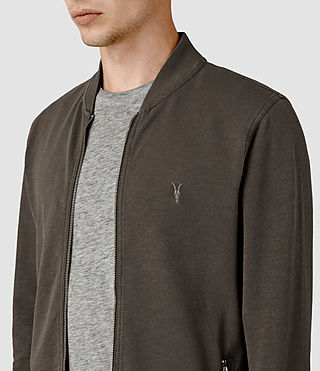 Men's Orian Bomber Sweatshirt (Khaki Brown) - product_image_alt_text_2