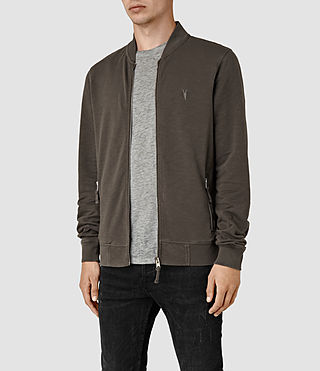 Hombres Orian Bomber Sweatshirt (Khaki Brown) - product_image_alt_text_3
