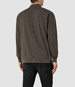Men's Orian Bomber Sweatshirt (Khaki Brown) - product_image_alt_text_4