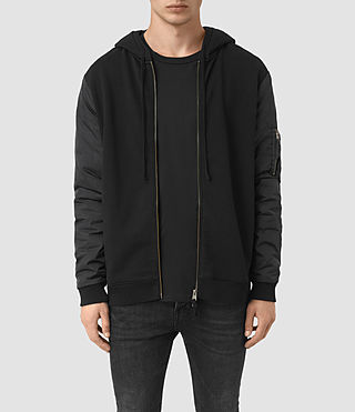 Men's Osier Zip Hoody (JET BLACK/SLATE)