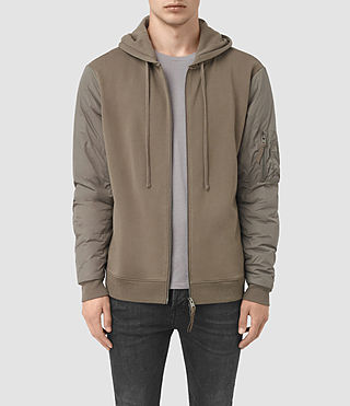 Mens Osier Zip Hoody (WASHED KHAKI/TAUPE)