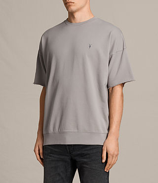 Men's Negotum Short Sleeve Crew Sweatshirt (Putty Brown) - product_image_alt_text_3