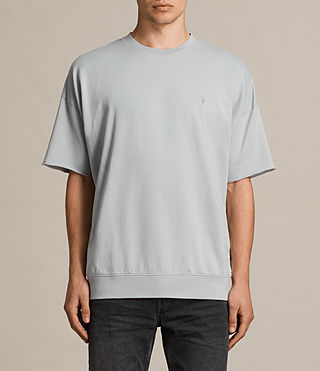 Mens Negotum Short Sleeve Crew Sweatshirt (DOVE BLUE) - product_image_alt_text_1