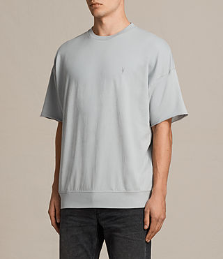 Mens Negotum Short Sleeve Crew Sweatshirt (DOVE BLUE) - product_image_alt_text_3