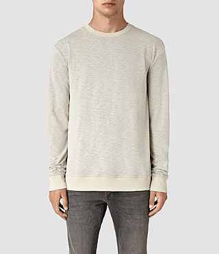 Mens Jenner Crew Sweatshirt (ECRU CHALK) - product_image_alt_text_1