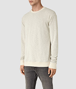Men's Jenner Crew Sweatshirt (ECRU CHALK) - product_image_alt_text_3