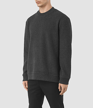 Mens Hester Crew Sweatshirt (Charcoal Marl) - product_image_alt_text_2