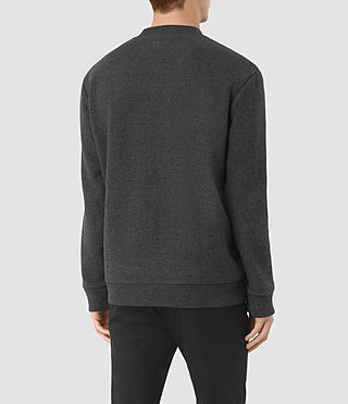 Mens Hester Crew Sweatshirt (Charcoal Marl) - product_image_alt_text_3