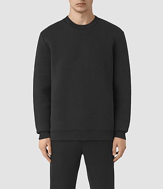 Mens Arch Crew Sweatshirt (Jet Black)