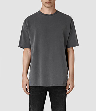 Herren Paragon Short Sleeve Crew Sweatshirt (Washed Graphite)