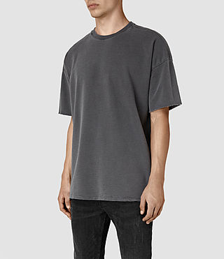 Hombres Paragon Short Sleeve Crew Sweatshirt (Washed Graphite) - product_image_alt_text_3