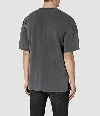 Hombres Paragon Short Sleeve Crew Sweatshirt (Washed Graphite) - product_image_alt_text_4