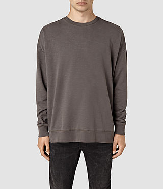 Mens Paragon Crew Sweatshirt (Washed Khaki Brown)