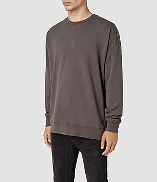 Men's Paragon Crew Sweatshirt (Washed Khaki Brown) - product_image_alt_text_3