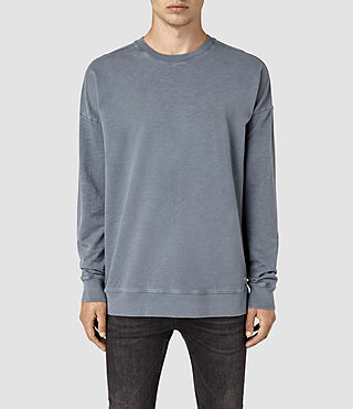 Herren Paragon Ls Crew (WASHED OCEAN BLUE)