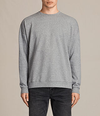 Men's Lasher Crew Sweatshirt (Charcoal Marl) - product_image_alt_text_1