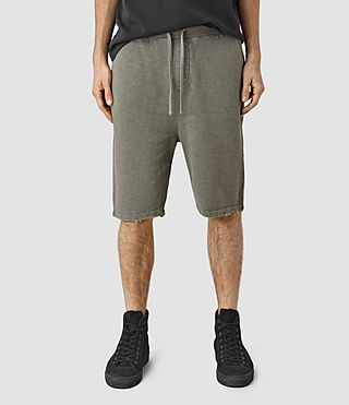 Mens Rigged Sweatshort (Olive Green) - product_image_alt_text_1