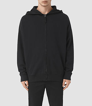 Hommes Sweat à capuche et zip Wiltson (Jet Black)