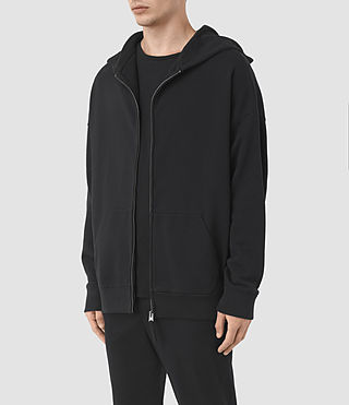 Hommes Sweat à capuche et zip Wiltson (Jet Black) - product_image_alt_text_2