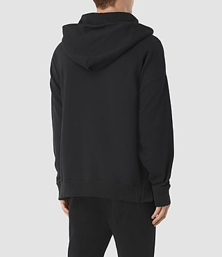 Hommes Sweat à capuche et zip Wiltson (Jet Black) - product_image_alt_text_3