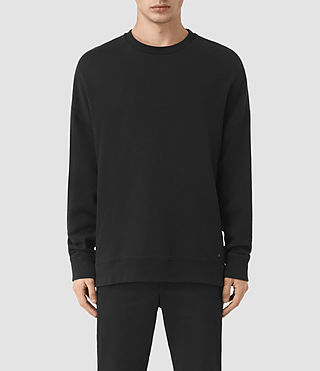 Mens Wiltson Crew Sweatshirt (Jet Black) - product_image_alt_text_1