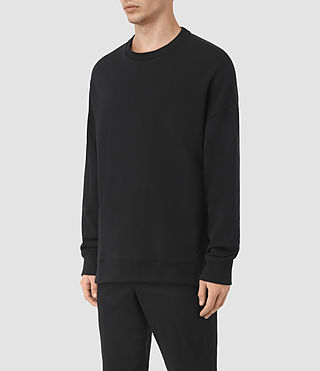 Mens Wiltson Crew Sweatshirt (Jet Black) - product_image_alt_text_2
