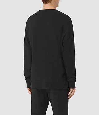 Mens Wiltson Crew Sweatshirt (Jet Black) - product_image_alt_text_3