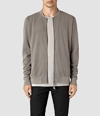 Hombres Bahar Sweat Bomber (Washed Khaki)