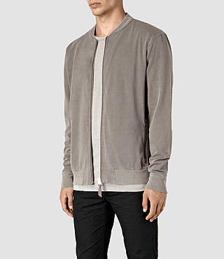 Hommes Bahar Sweat Bomber (Washed Khaki) - product_image_alt_text_2