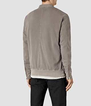 Hommes Bahar Sweat Bomber (Washed Khaki) - product_image_alt_text_3