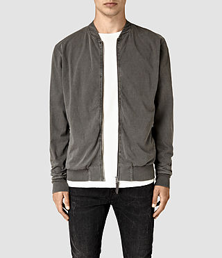 Mens Bahar Sweat Bomber (Vintage Black) - product_image_alt_text_1