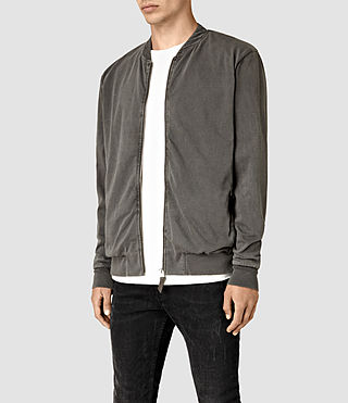 Hombres Bahar Sweat Bomber (Vintage Black) - product_image_alt_text_2