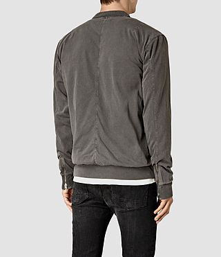 Hombres Bahar Sweat Bomber (Vintage Black) - product_image_alt_text_3